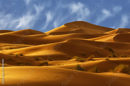Foto  Dunes of Sahara Desert , Morocco