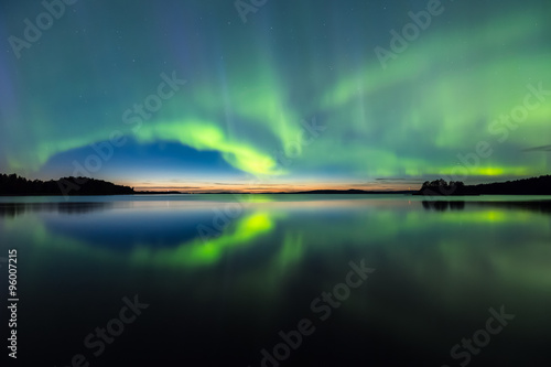 Poster  Northern lights (Aurora borealis) in the sky