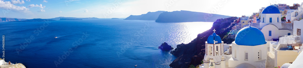 Fototapety, obrazy: Panorama of Oia village on Santorini, Greece