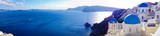 Panorama of Oia village on Santorini, Greece