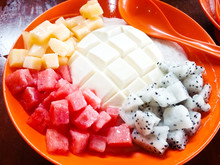 Tofu Pudding Fruit