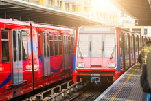 Driverless Urban Trains At Station In London