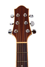 Guitar Headstock Isolated On W...