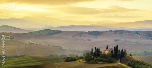 Fototapeta Poranny krajobraz Toskanii obraz
