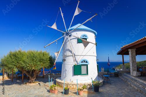 Poster Molens Old windmill on Zakynthos island, Greece