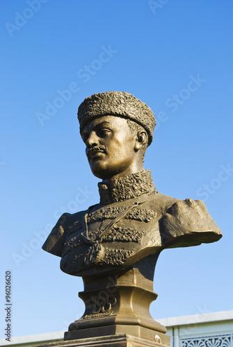 Fotografie, Obraz  The monument to Nikolay Aleksandrovich Panin-Kolomenkin