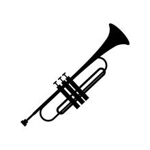 Trumpet Simple Black Icon
