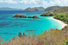 Beautiful Beach In U.S. Virgin...