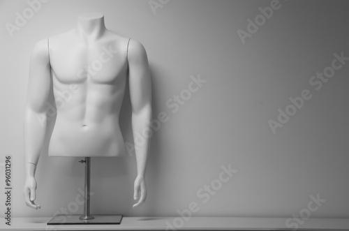 Photo White male mannequin torso