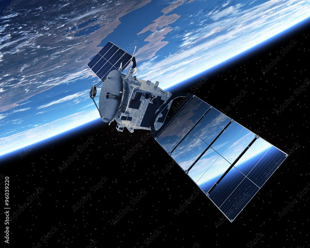 Fototapety, obrazy: Satellite Orbiting Earth
