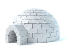 3d Illustration Of An Igloo