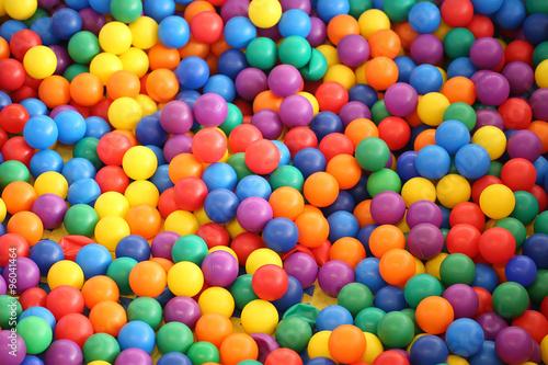 Poster Confiserie Multi colored bright plastic balls