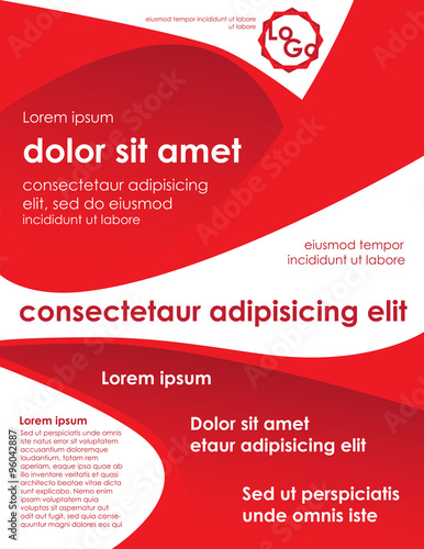 Red Brochure Template With Placeholder Text Buy This Stock Vector