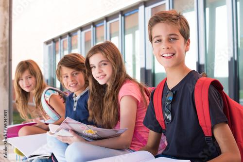 Stampa su Tela  Kids in School