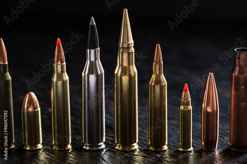 Photo Number of large-caliber ammunition