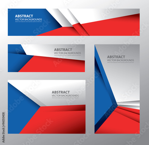 Photo  Abstract Czech Republic Flag, Czech Colors (Vector Art)