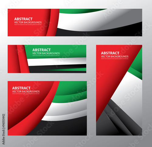 Photo  Abstract UAE Flag, Emirates Colors (Vector Art)
