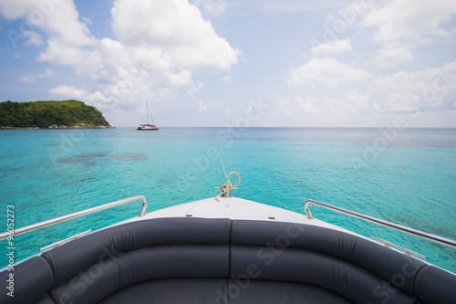 beautiful island view from speed boat Canvas