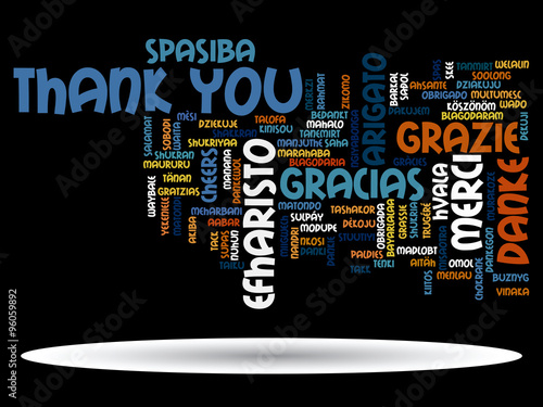 Vector conceptual thank you word cloud #96059892