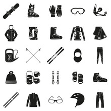 Set Of Equipment, Cloth And Sh...