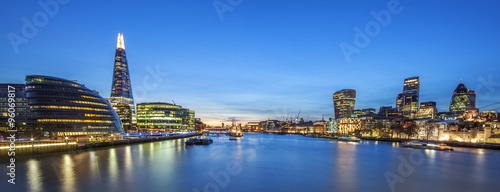 Foto op Canvas Londen Panoramic view of london skyline