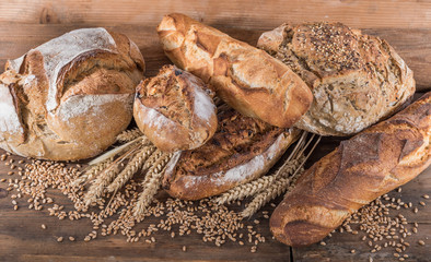 Fototapeta Composition of various breads