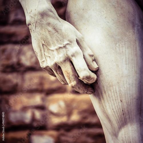 Fotografía  Michelangelo's David Hand Detail