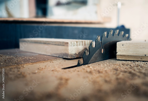 Stampa su Tela carpenter tool with Electronic Table Saw