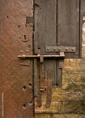 here no one enters , detail of an old door, abandoned house in Sintra, Portugal Poster