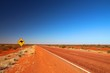 canvas print picture - Australian road sign on the highway