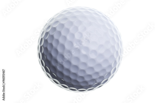Fotografiet golf ball isolated on white