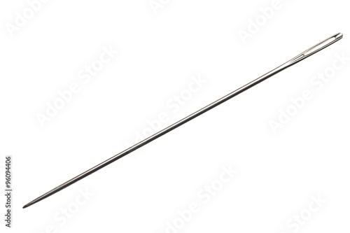 Foto sewing needle isolated on white background
