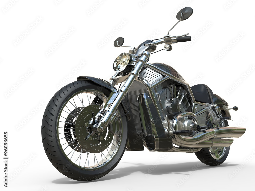 Foto  Powerful Vintage Motorcycle - Closeup