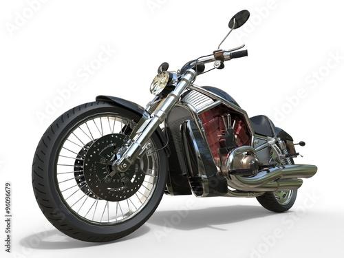 Foto  Powerful Vintage Motorcycle - Red Engine