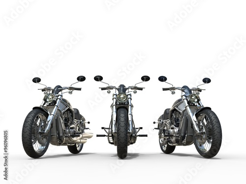 Three awesome vintage motorcycles Canvas