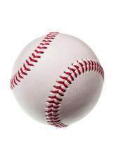 New Baseball Isolated On White...