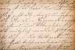Leinwanddruck Bild - Old undefined abstract handwritten text. Paper texture backgroun