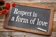 canvas print picture - Respect is a form of love