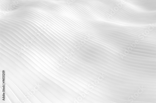 Fotografering  White snowy surface hills or white dunes - wavy abstract landscape background