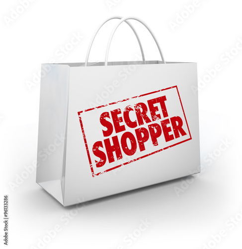 Fotografía  Secret Mystery Shopper Shopping Bag Store Evaluation
