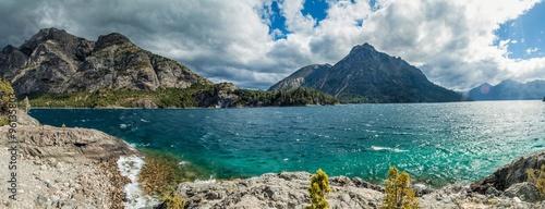 Fotografie, Obraz  Panorama of Bahia Lopez bay in Nahuel Huapi lake near Bariloche, Argentina