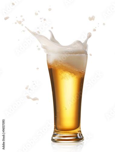 Printed kitchen splashbacks Beer / Cider beer splash