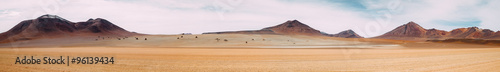 Aluminium Prints Panorama Photos The vast expanse of nothingness - Atacama Desert - Bolivia