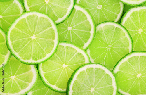Lime slice background Fototapet