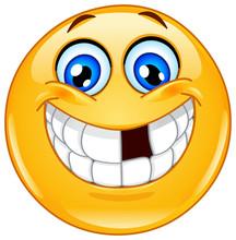 Emoticon With Missing Teeth