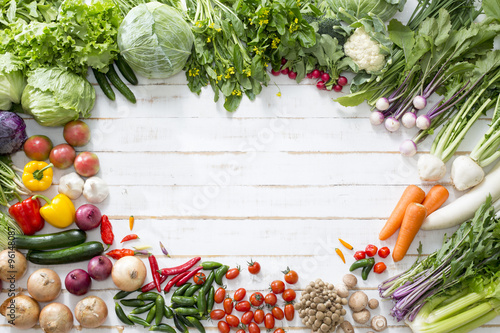 In de dag Groenten 野菜背景
