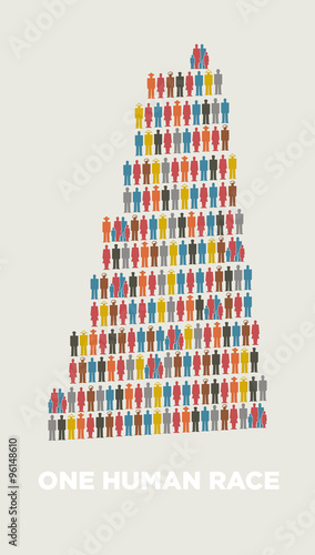 Leinwand Poster Isotype babel tower