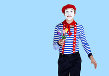 Mime With Flower.Emotional Fun...
