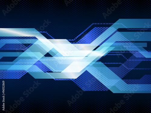 Fotografiet  Vector illustration of abstract hi-tech background