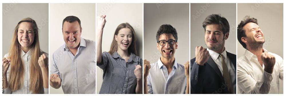 Valokuva  Jubilant people